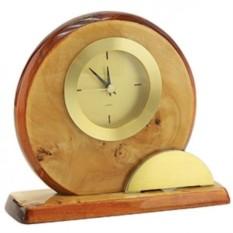 Настольные часы Карельская береза