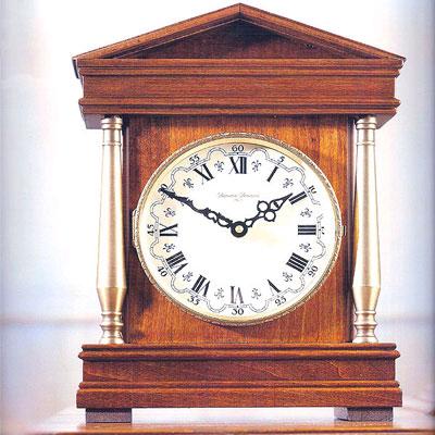 Часы настольные, антик, орех
