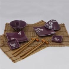 Фиолетовый набор посуды для суши