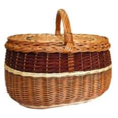 Корзина для пикника с коричневой вставкой