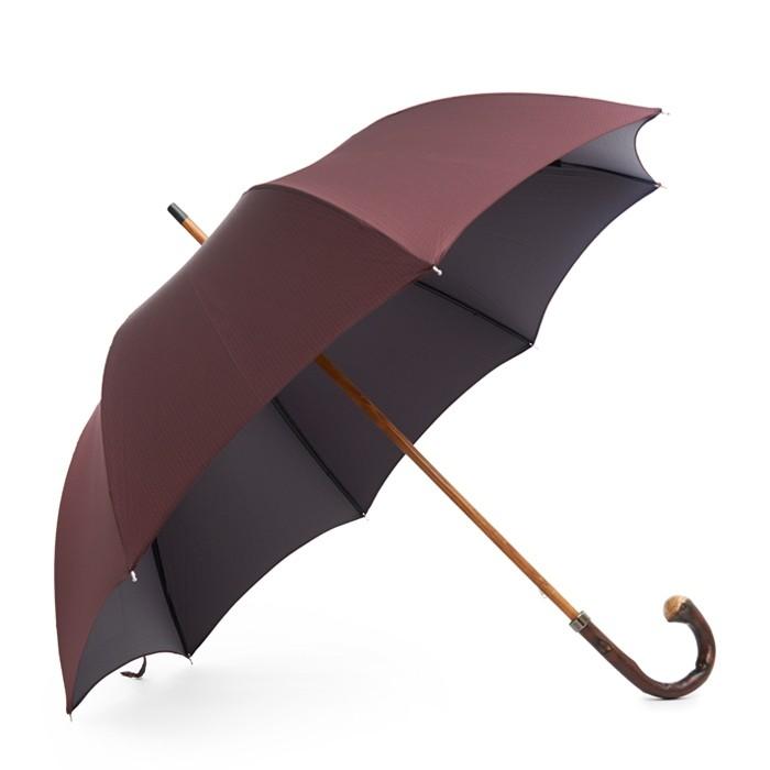 Зонт Mario Talarico, бордовый с синими точками