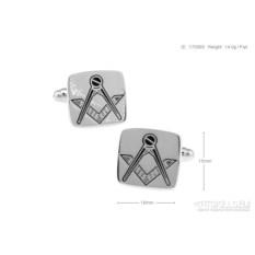 Металлические запонки «Символ Масонов» в именной коробке