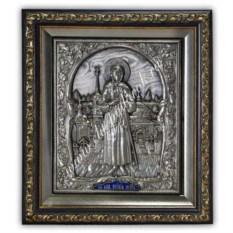 Серебряная икона Ксения Петербургская