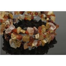 Браслет из натуральных камней «Лепестки»