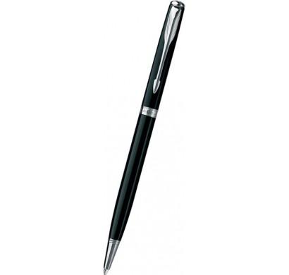 Ручка SONNET SLIM шариковая (черный лак CT)