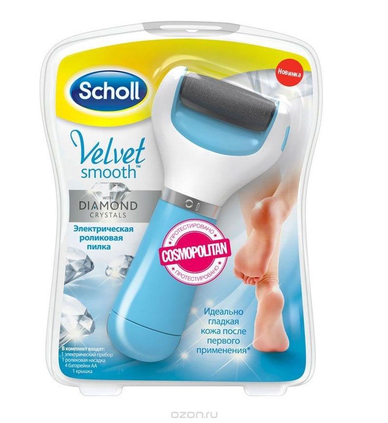 Электрическая роликовая пилка Scholl для удаления огрубевшей кожи стоп
