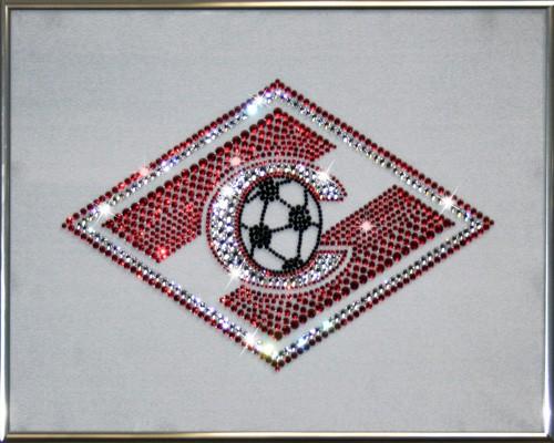 Картина с кристаллами Сваровски Спартак на белом фоне