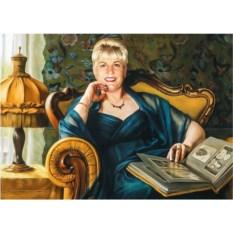 Женский портрет по фотографии 100х70 см