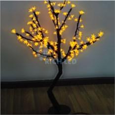 Желтое светодиодное дерево Сакура 1,1х0,75 м