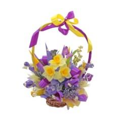 Букет из цветов и конфет Бодрость