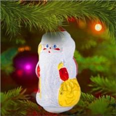 Елочная игрушка «Дедушка Мороз в белой шубе»