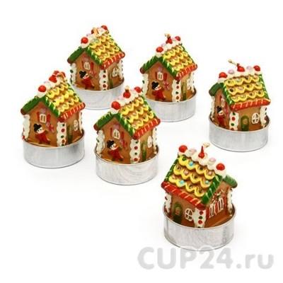 Новогодние свечи «Пряничные домики»