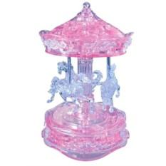 Розовая 3D головоломка «Карусель»