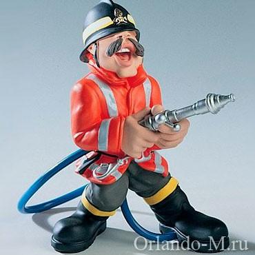 Фигурка Пожарник в оранжевом