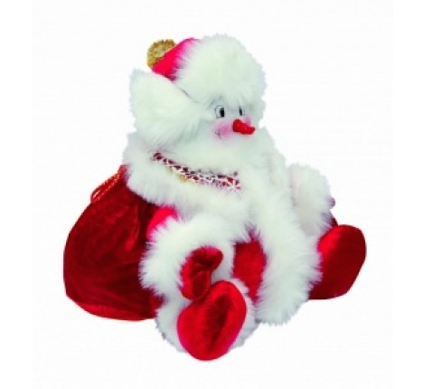 Новогодняя игрушка Снеговик помощник с конфетами