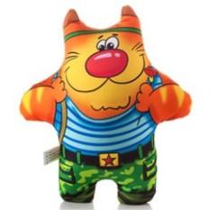 Подушка-игрушка антистресс Кот солдат