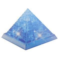 Синяя 3D головоломка Пирамида