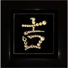 Картина с кристаллами Swarovski Иероглиф Удачи