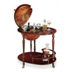 Глобус-бар напольный со столиком на колесах