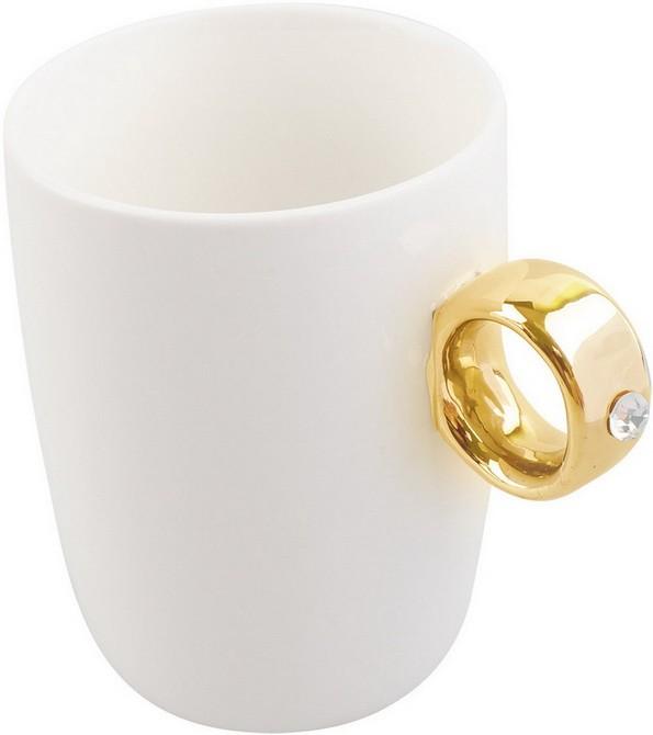 Кружка для кофе Кольцо с бриллиантом на 300 мл