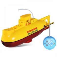 Радиоуправляемая желтая подводная лодка со светом