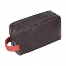 Серый несессер LC Designs Co. Ltd с красным ремешком