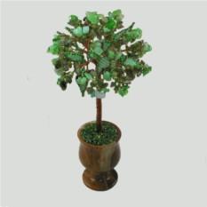 Дерево из лабрадора и хризолита в вазочке из оникса