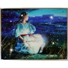 Картина с кристаллами Сваровски Дева Кагая