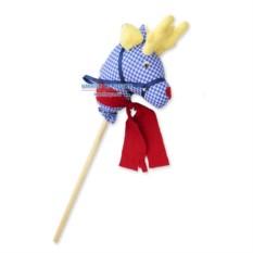Игрушка на палке «Новогодний олень Рудольф»