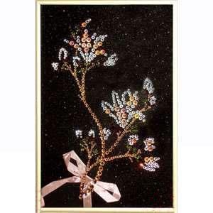Картина с кристаллами Swarovski Цветок весны