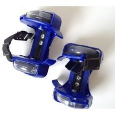 Синие ролики на обувь