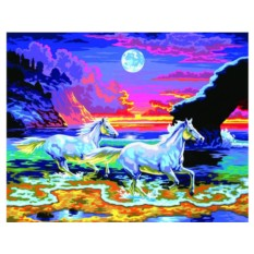 Картины по номерам «Бегущие лошади»