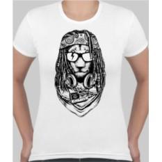 Женская футболка Лев растоман