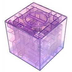 Копилка-головоломка Финансы в лабиринте, фиолетовая