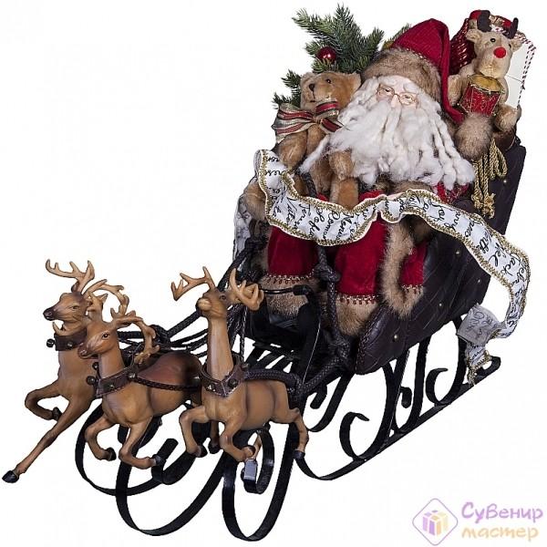 Интерьерное украшение «Дед Мороз на санях»