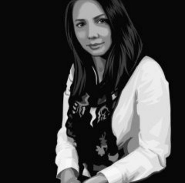 Женский поп-арт портрет