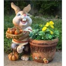 Декоративное кашпо Кролик с овощами