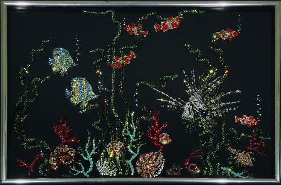 Картина с кристаллами Swarovski Аквариум