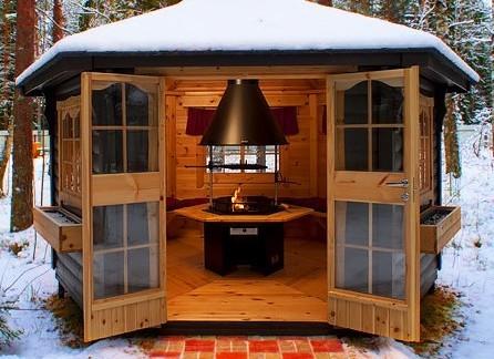 Купон Гриль-зона: утепленный гриль-домик и крытая беседка