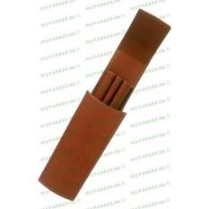 Кожаный футляр для трех ручек Graf von Faber-Castell Brown