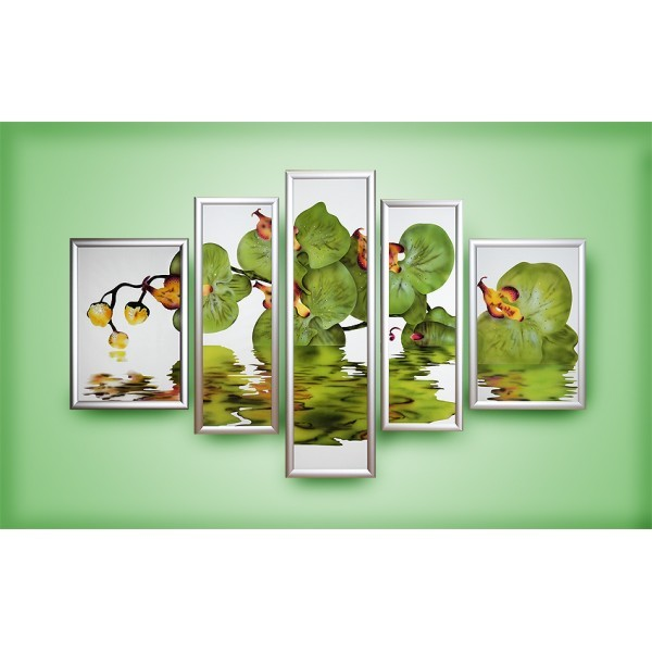 Картина Swarovski Зеленая орхидея