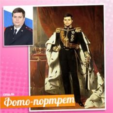 Портрет в образе короля на холсте по фото