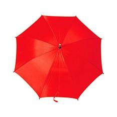 Красный зонт-трость с деревянной ручкой
