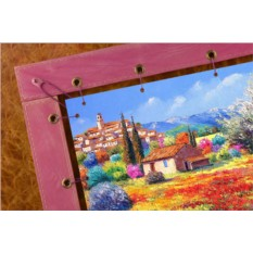 Картина из кожи Цветочные пейзажи Жан-Марк Янячик