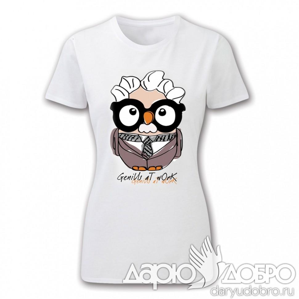 Женская футболка с совой Альберт