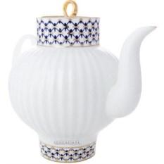 Фарфоровый заварочный чайник Кобальтовая сетка (800 мл)