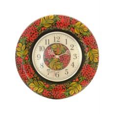 Часы с ручной художественной росписью Хохлома рябинка