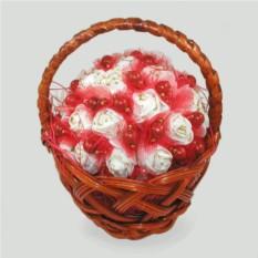 Корзинка цветов с кораллом Изобилие