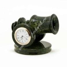 Часы из змеевика Пушка