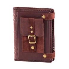 Коричневый кожаный ежедневник А6 с карманом